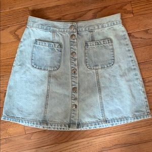 urban outfitters A style button skirt